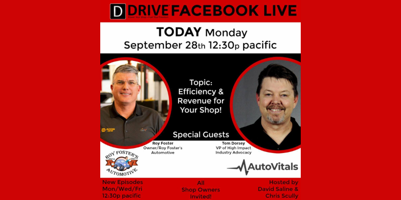 Tom Dorsey Stopped by DRIVE Facebook Live with Roy Foster